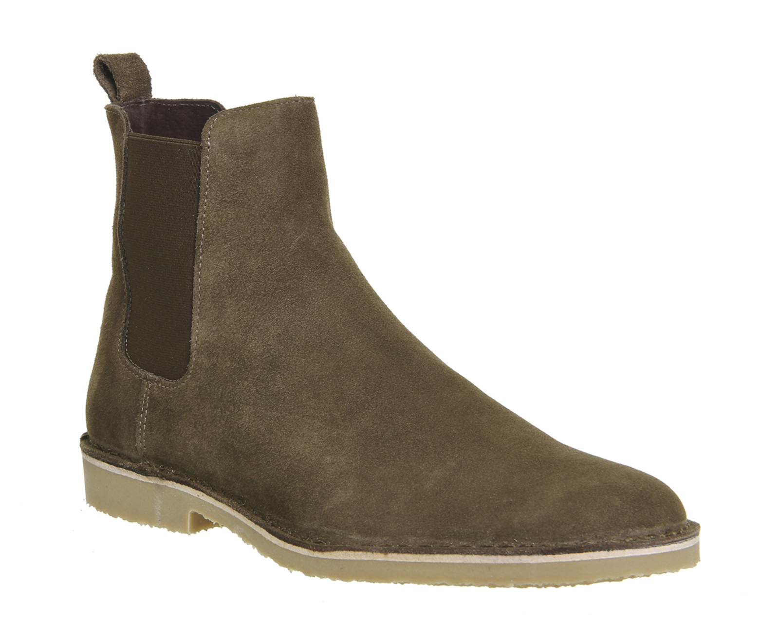 mens ask the missus chelsea boots khaki suede boots