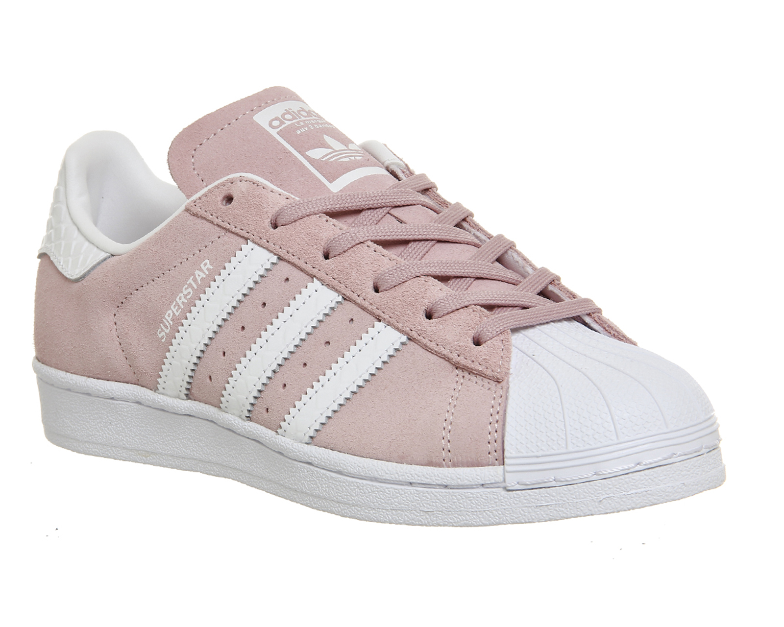 Mens Adidas Superstar 1 Pink White Snake Trainers Shoes Ebay