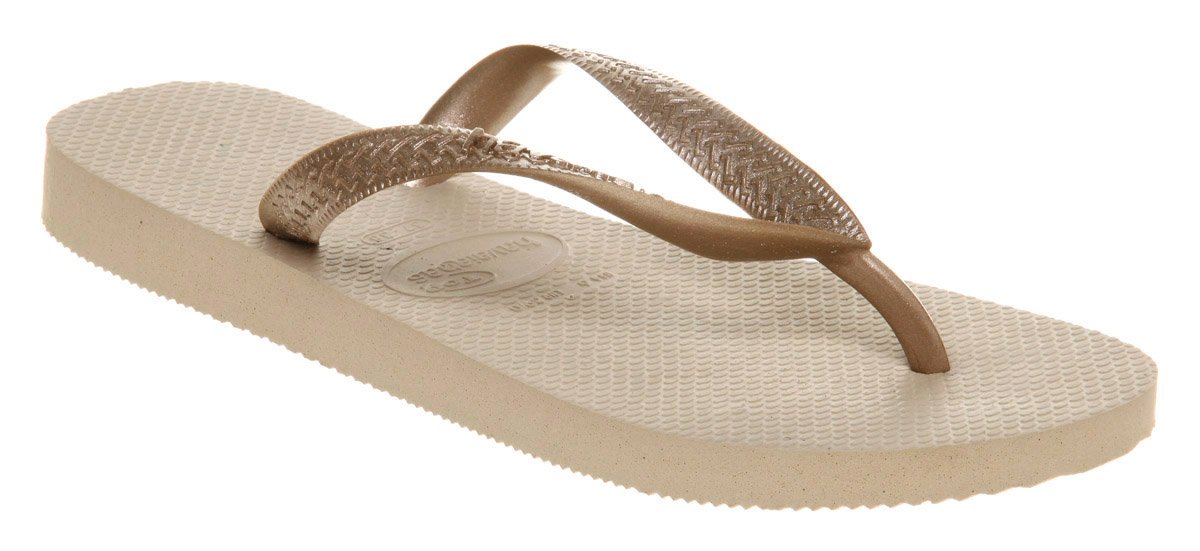 Womens-Havaianas-Top-Metalic-Flip-flop-Gold-Sun-Sandals