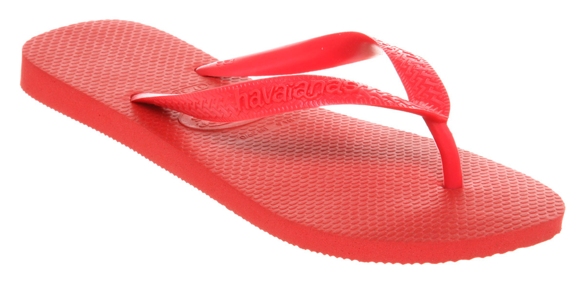 Womens-Havaianas-Top-Flip-flop-Red-Rubber-Sandals