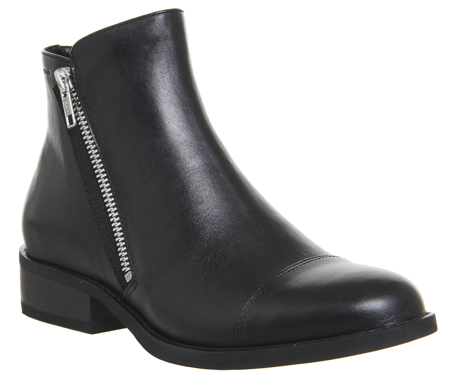 womens vagabond cary zip boots black leather boots ebay