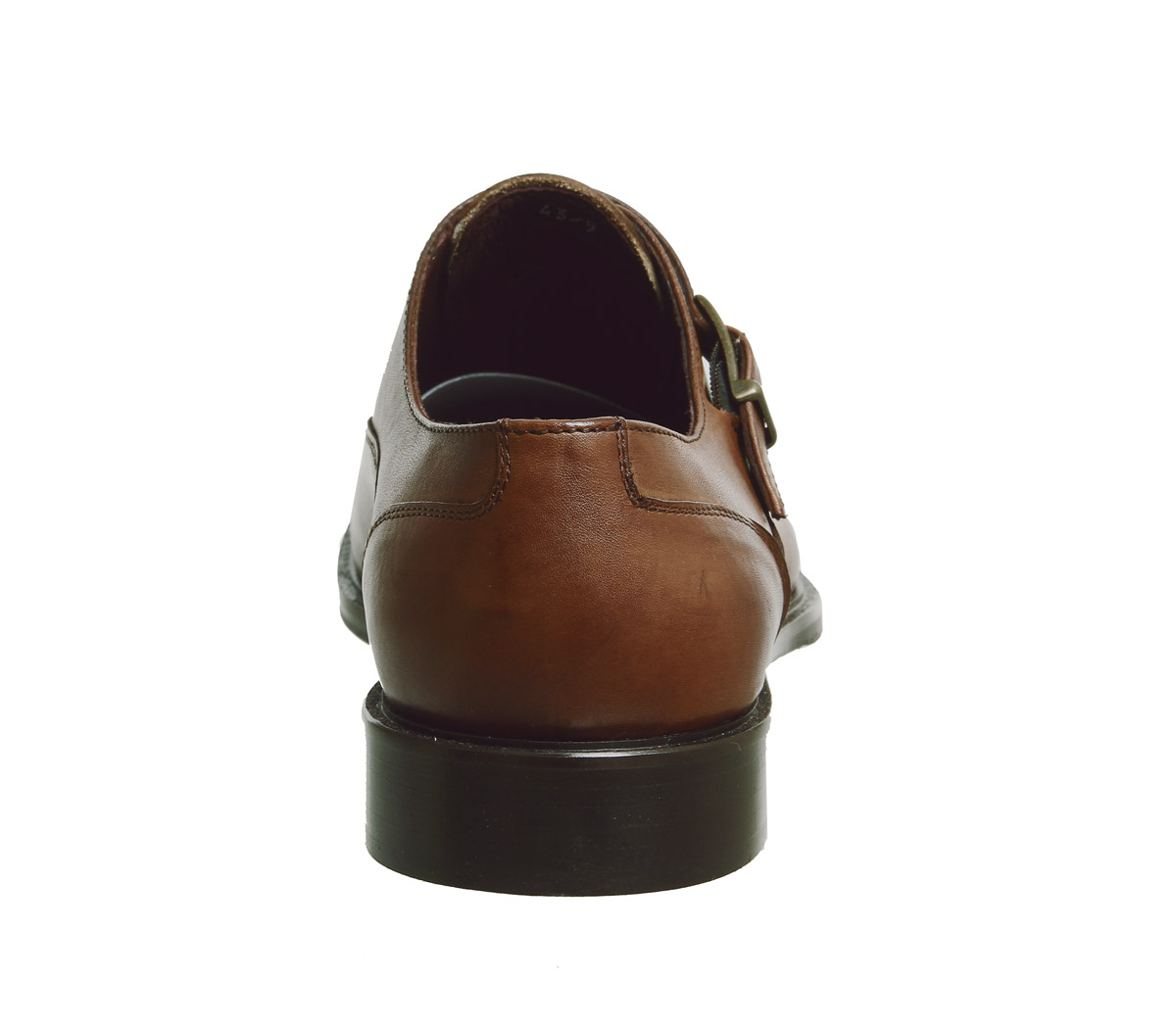Zapatos de Cuero Zapatos para hombre Poste Inglese único monje Tostado formal