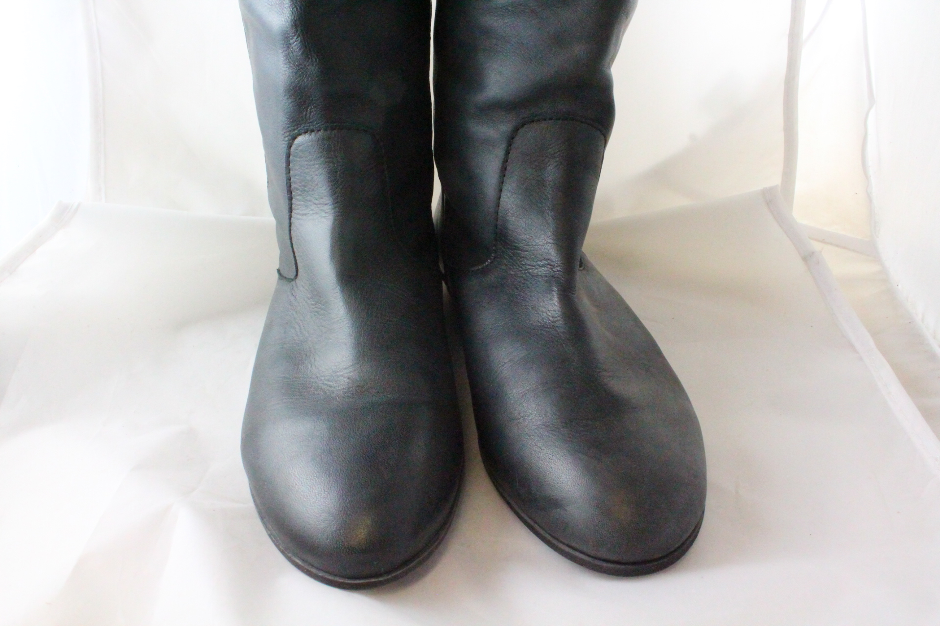 05d13622b95ba Womens Office Ariel Back Zip Black Leather Boots  Ex Display