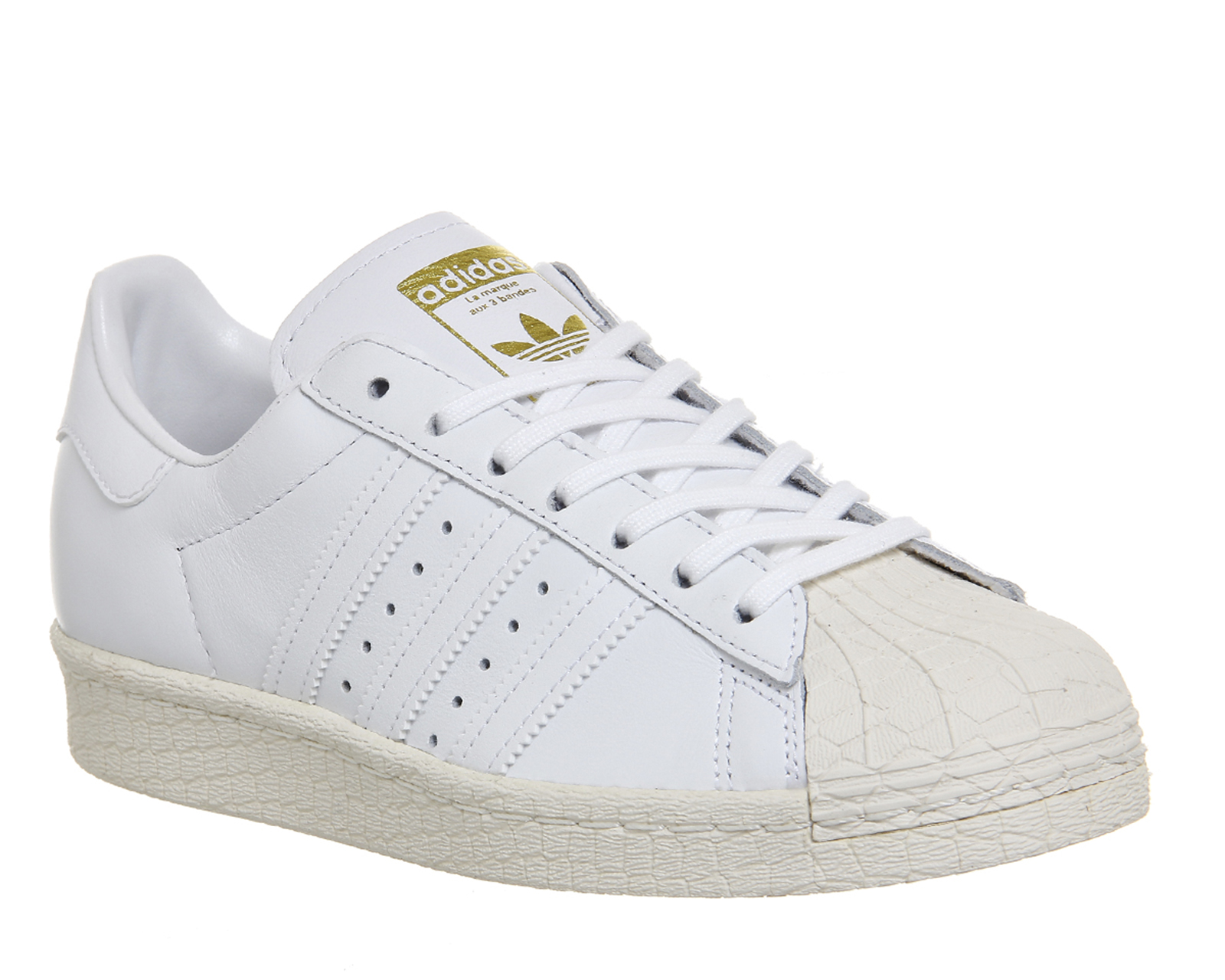 womens adidas superstar 80s white off white trainers shoes. Black Bedroom Furniture Sets. Home Design Ideas