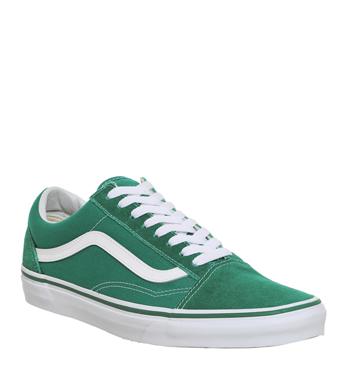 Mens Vans Old Skool Trainers ULTRA MARINE GREEN WHITE Trainers Shoes ... ae1c1662c644