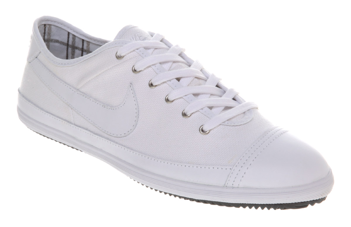 Image is loading Mens-Nike-Flash-Mens-White-Canvas-white-Leather- 03ef21b951