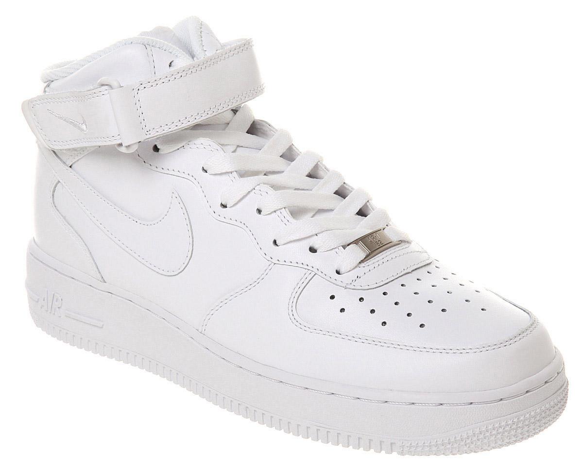 vente dernières collections Hommes Nike Air Force 1 Blanc Chaussures Milieu Des Formateurs Manchester rabais Livraison gratuite abordable clairance faible coût faible garde expédition Tzm8A