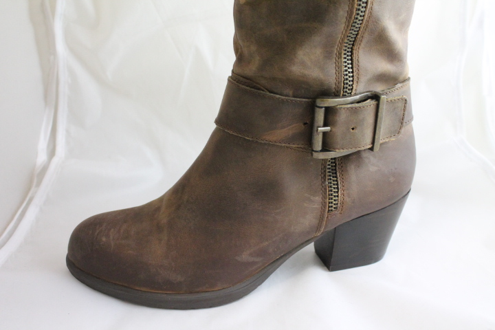 womens office agenda zip brown leather boots clearance ex