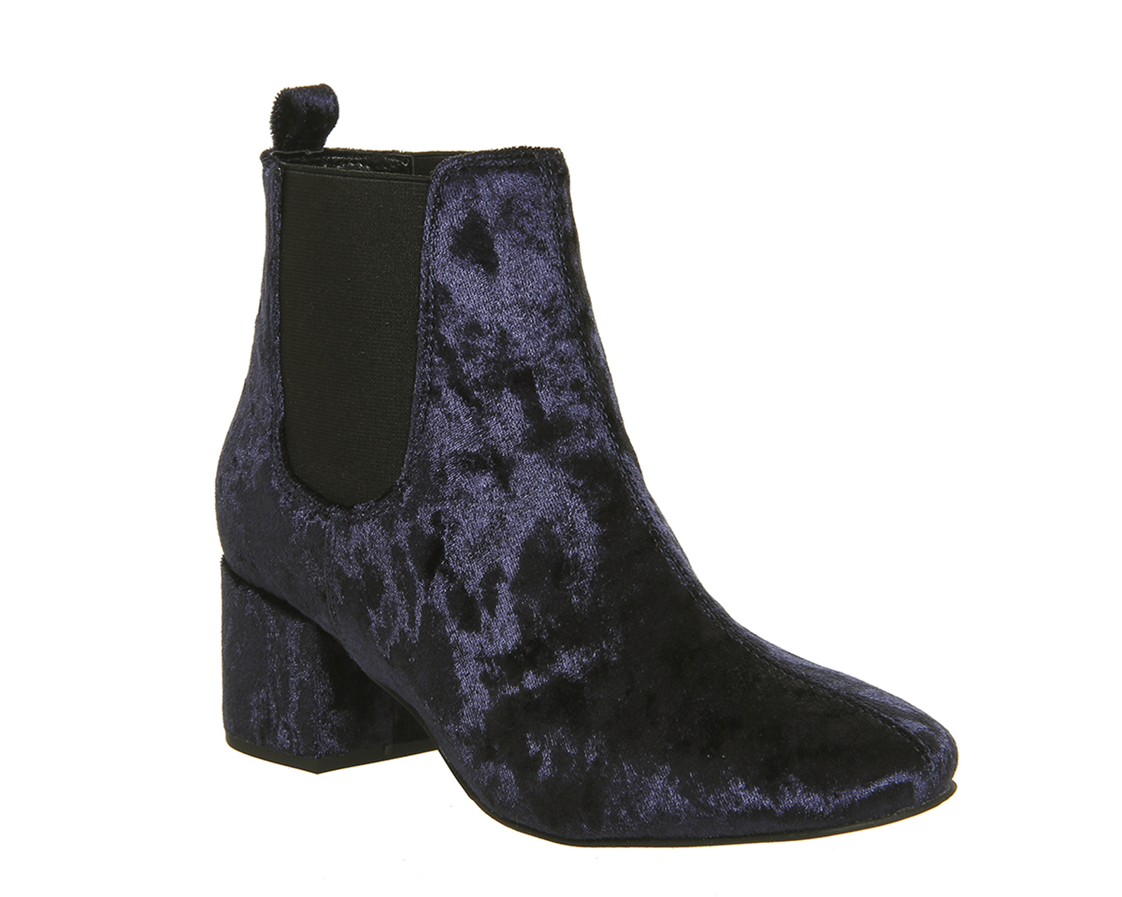 Popular  Womens Ankle Boots Navy Suede Grace Heeled Chelsea Boots Zero Profit