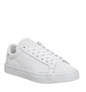 Mens Adidas Court Vantage WHITE MONO Trainers Shoes  a6b9857e4add