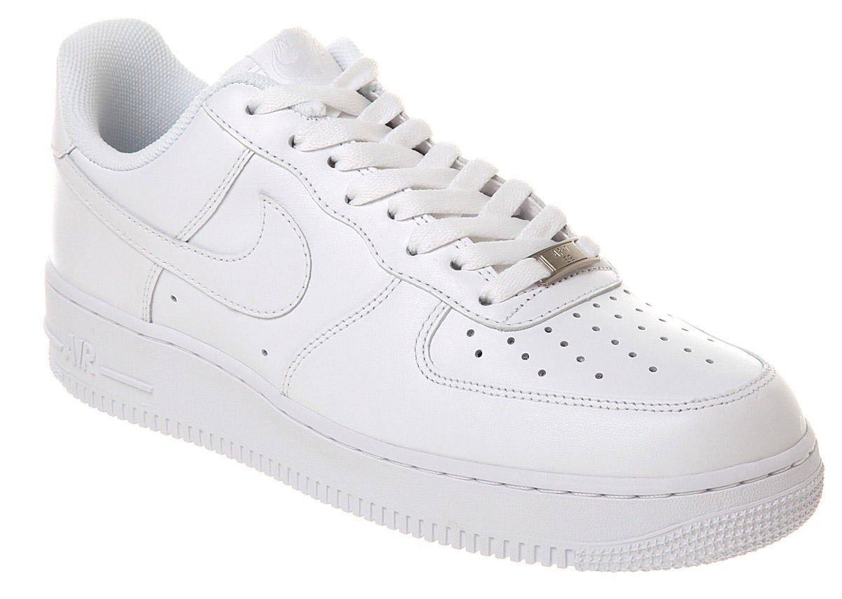 mens nike air force one mens white white trainers shoes ebay. Black Bedroom Furniture Sets. Home Design Ideas