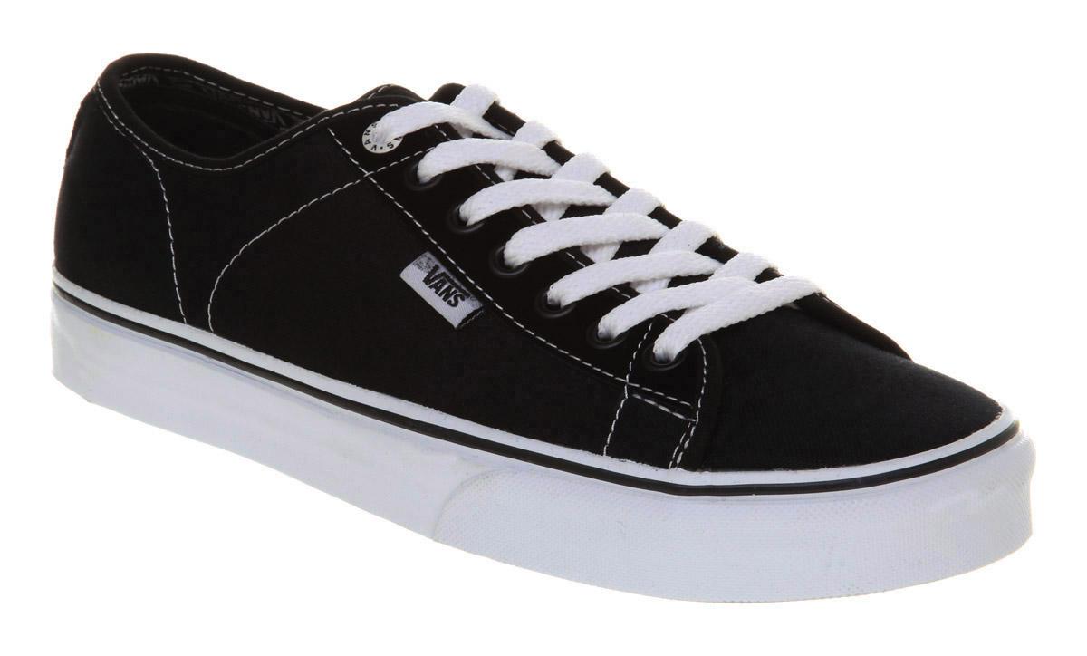mens vans ferris black white trainers shoes