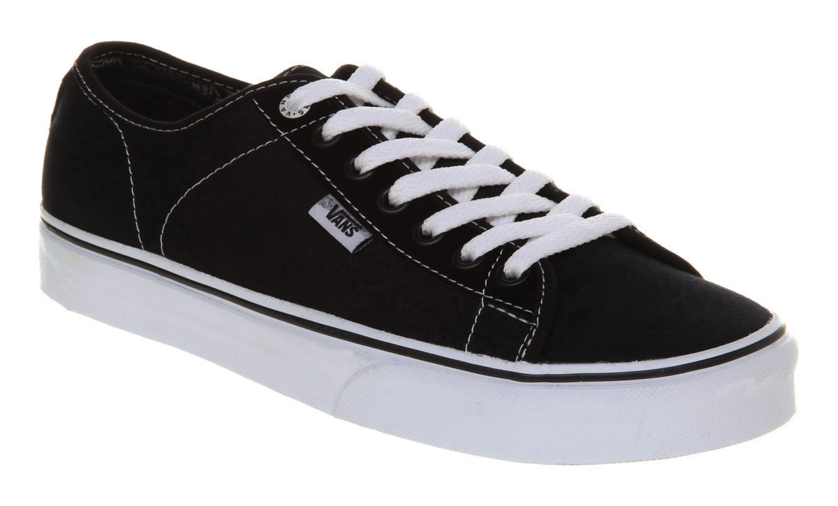 mens vans ferris black white trainers shoes
