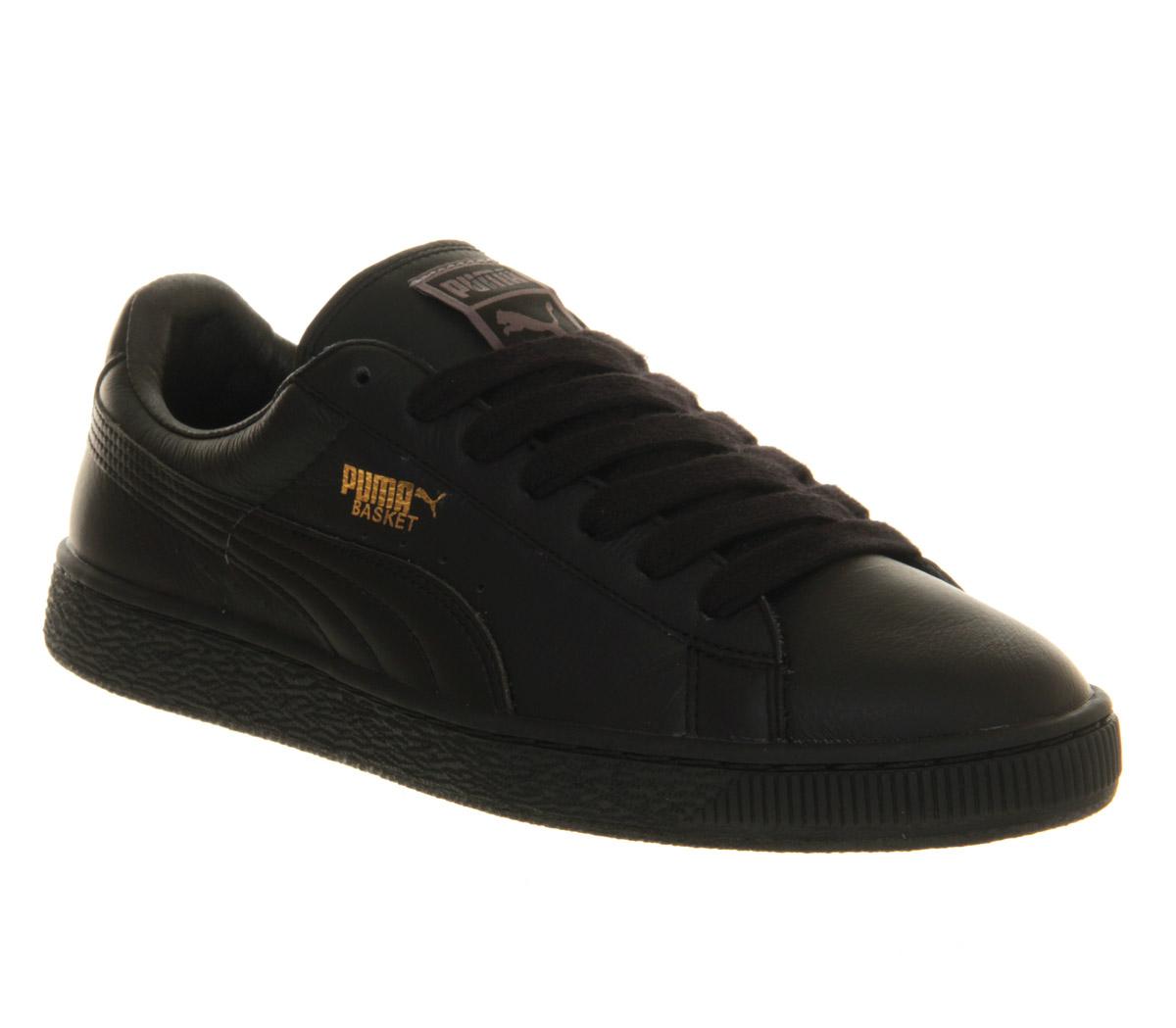 puma suede leather black