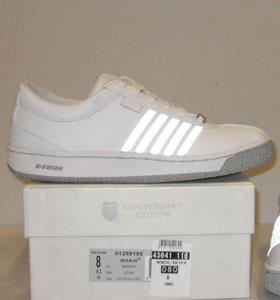Mens-K-Swiss-Snel-White-Silver-Trainers-Shoes