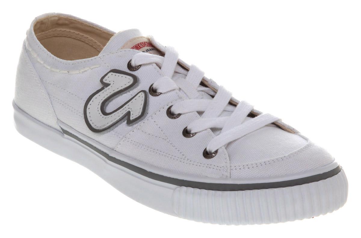 mens true religion hanabel court low white trainer shoes