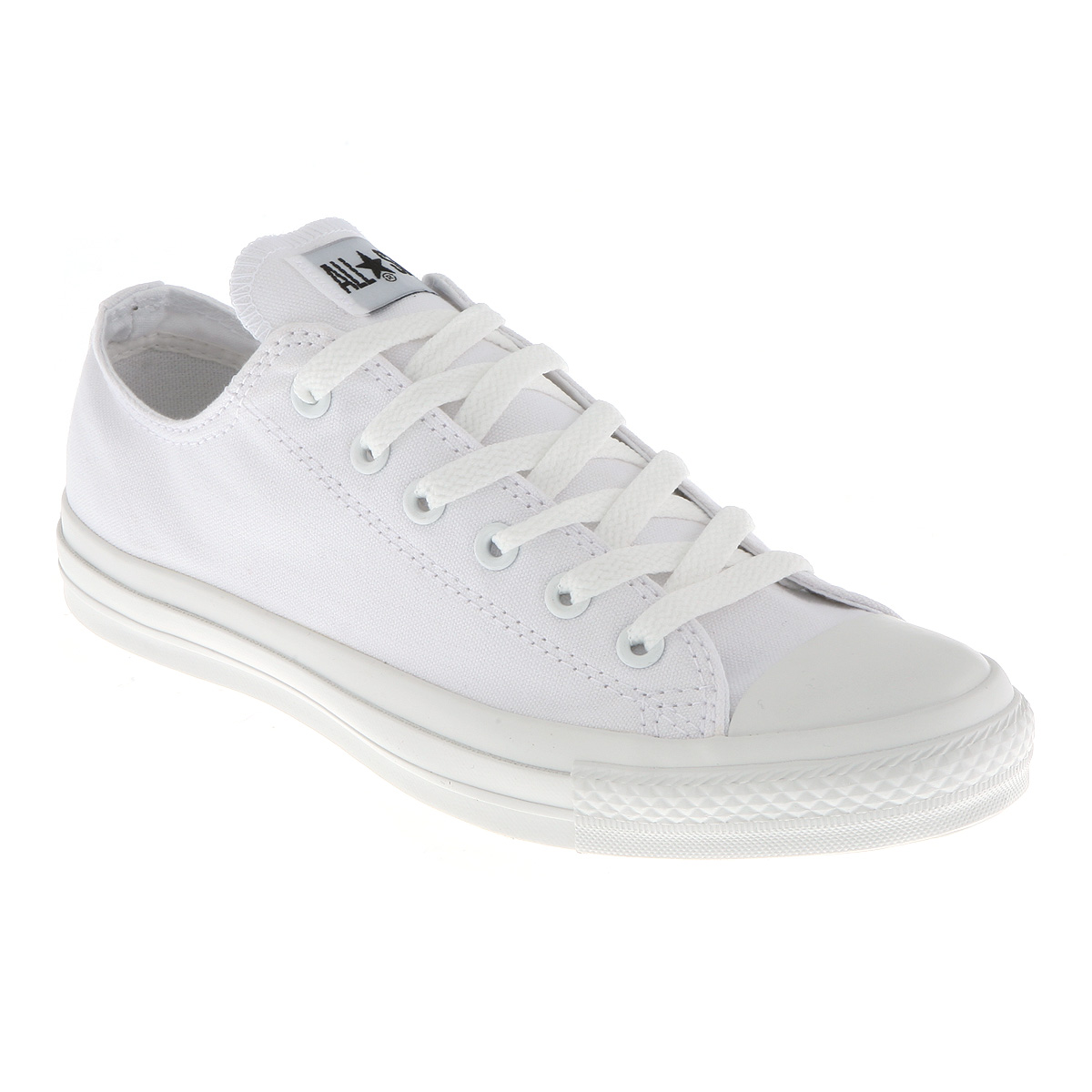 Converse Chuck Taylor All Star Ox Low White Mono Canvas ...