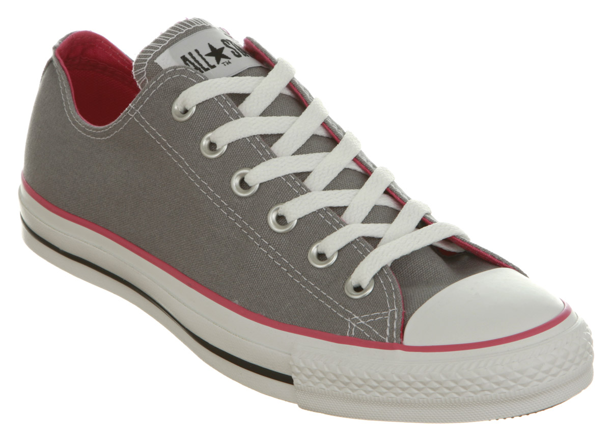 Sports converse all star ox low grey pink canvas ebay