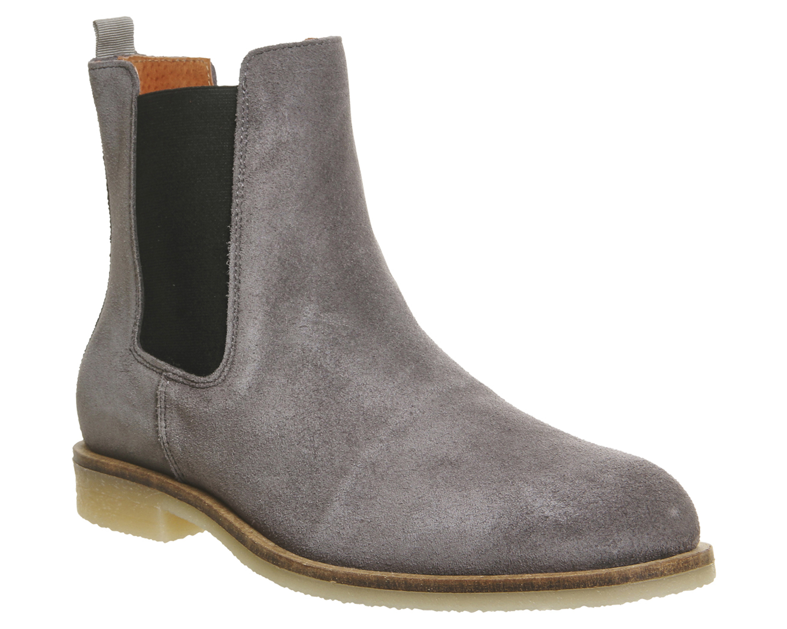 mens ask the missus chelsea boots grey suede boots