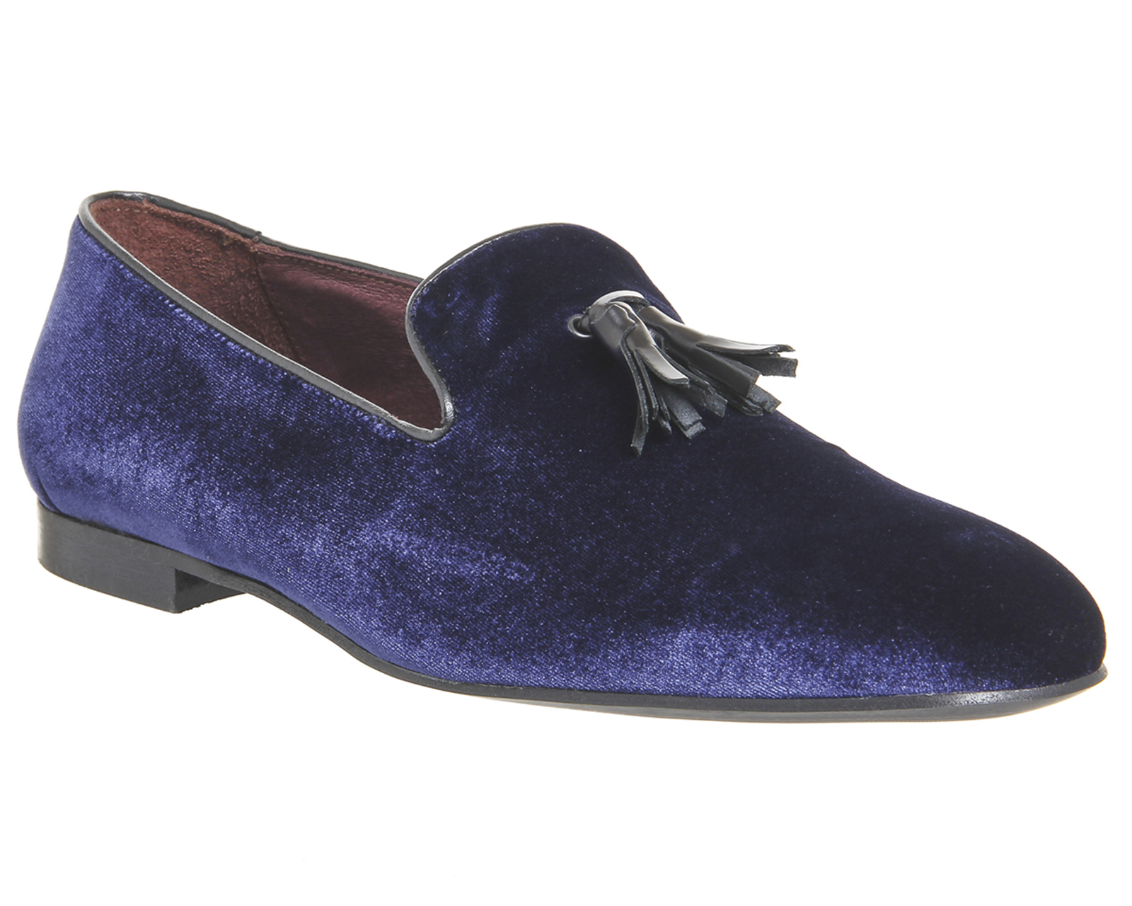 mens poste aristocrat loafers navy velvet formal shoes ebay