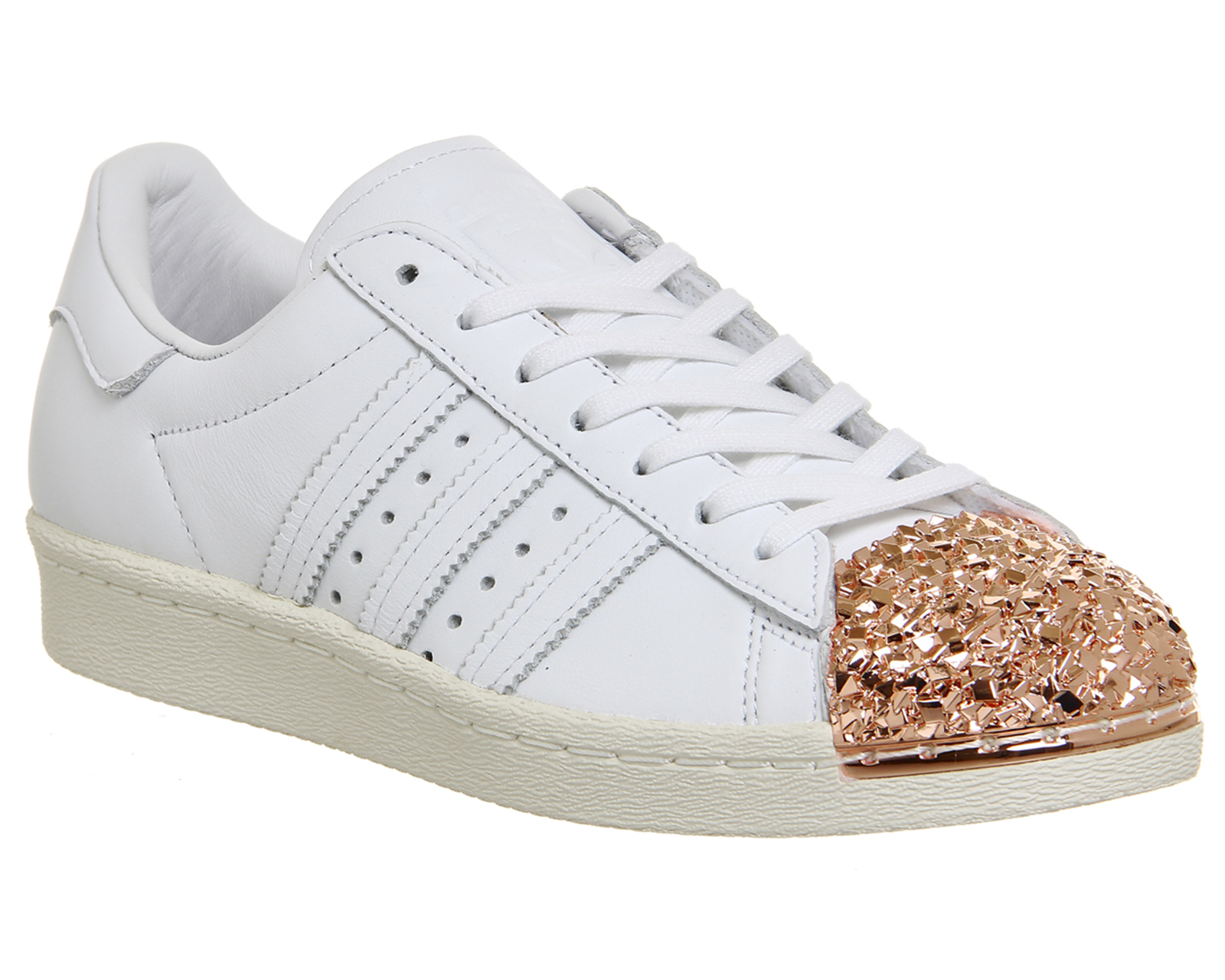 adidas Originals Women's Shoes Superstar, Black/White/Metallic Gold