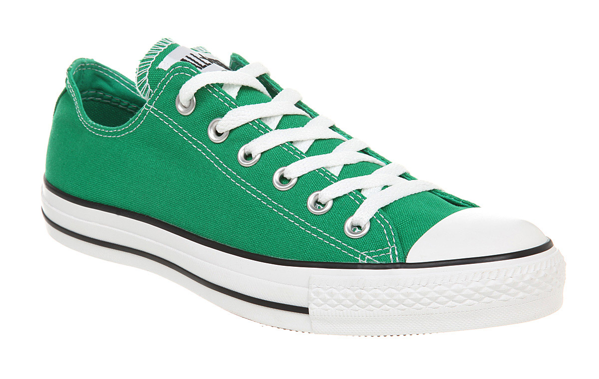 converse all star ox low jelly bean green trainers ebay. Black Bedroom Furniture Sets. Home Design Ideas