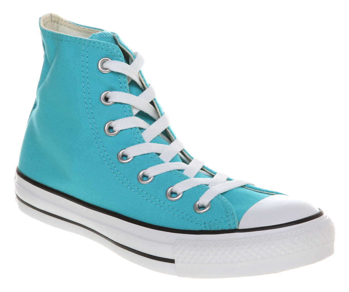 125bc62867d Image is loading Converse-All-Star-Hi-Light-Blue-Trainers-Shoes