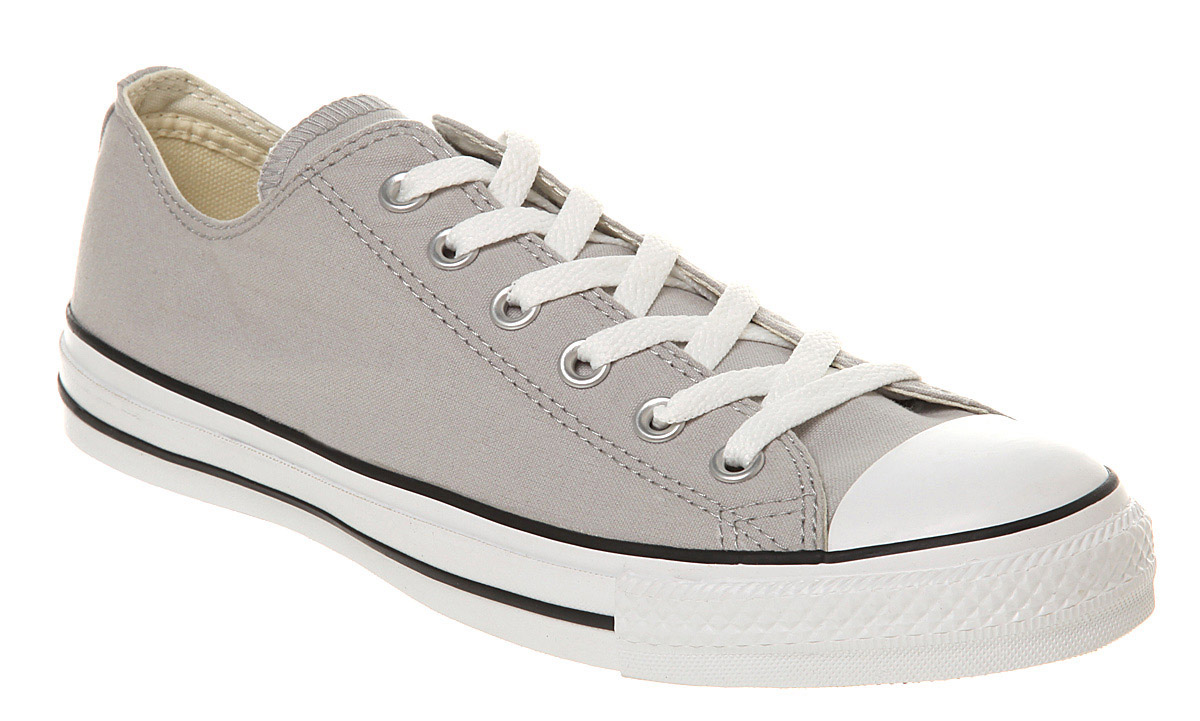 c4cbe50e8e3 Image is loading Converse-All-Star-Ox-Low-Washed-Grey-Canvas-