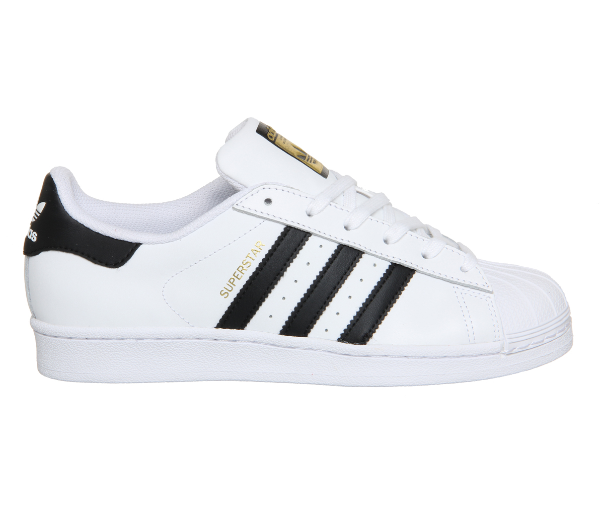 womens adidas superstar white black foundation trainers shoes. Black Bedroom Furniture Sets. Home Design Ideas