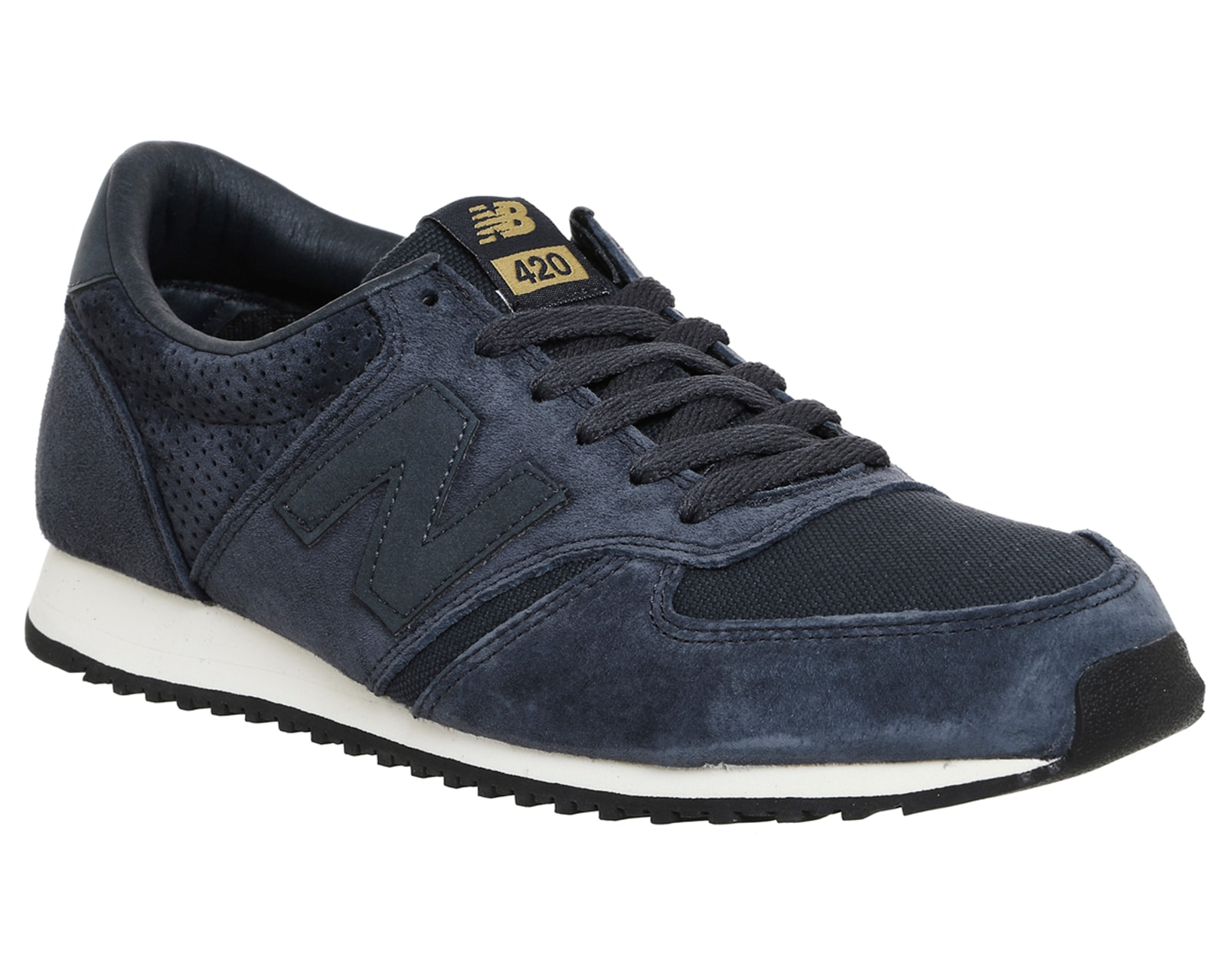 mens new balance u420 navy gold trainers shoes ebay. Black Bedroom Furniture Sets. Home Design Ideas