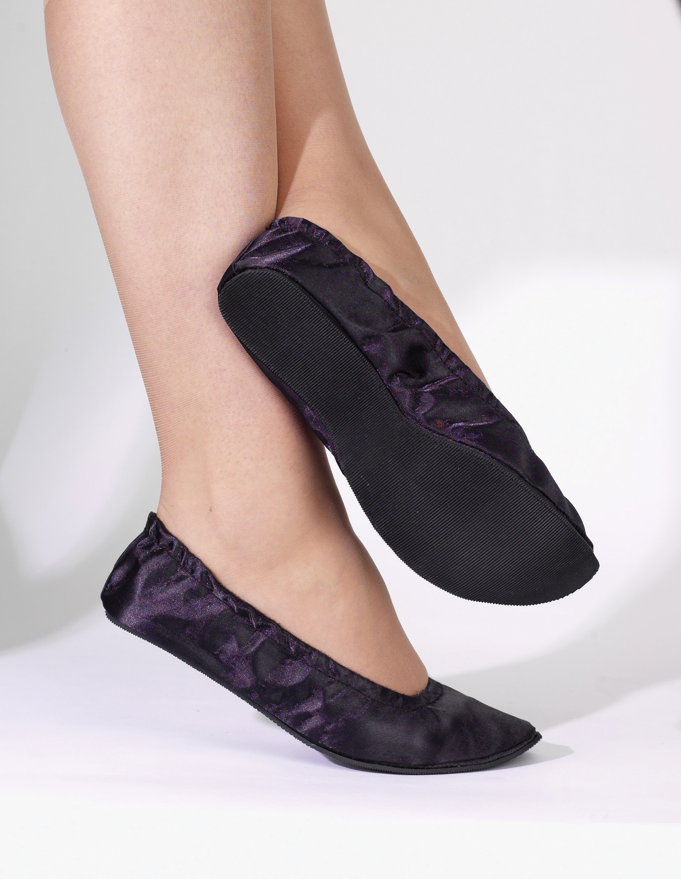 womens ballerina shoes satin flats pumps black s m l ebay