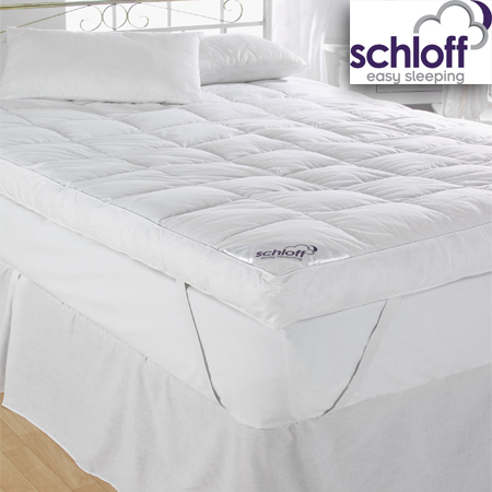 5 39 39 schloff duck feather down mattress topper single. Black Bedroom Furniture Sets. Home Design Ideas