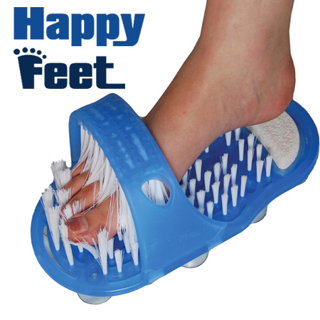 Happy Feet Scrubber Foot Cleaner Scrubber Washer Bath