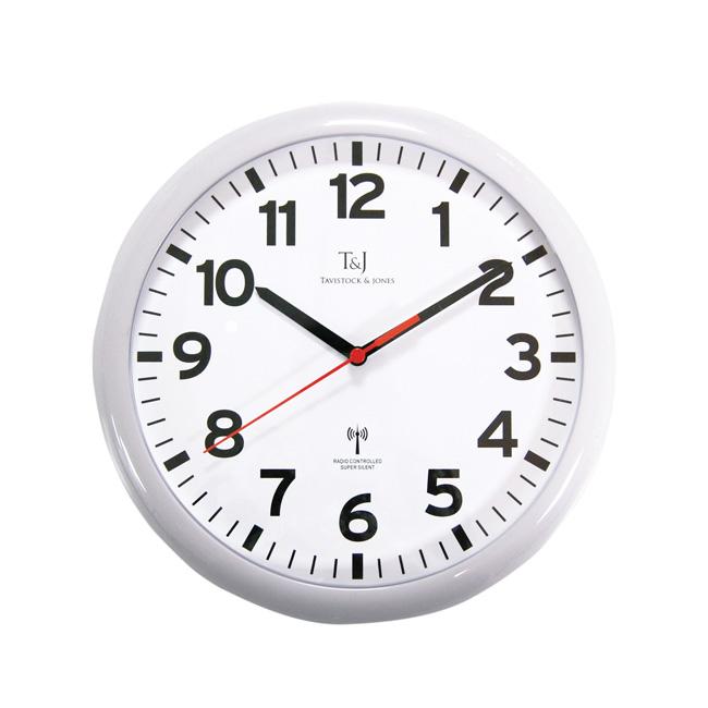 White Super Silent Radio Controlled Wall Clock Super