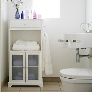 Normandy tall boy white bathroom cabinet storage ebay for Bathroom cabinets tall boy