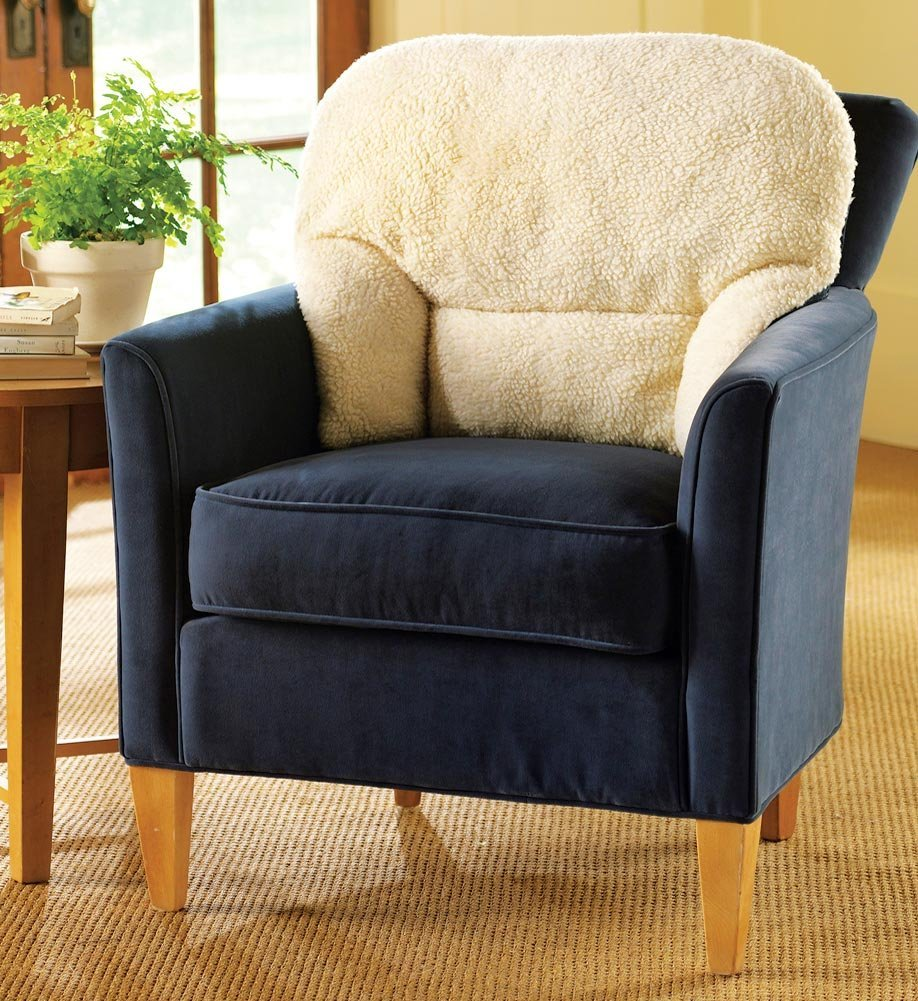 Armchair Fleece Back Rest Lumbar Support Aid Cushion New ...