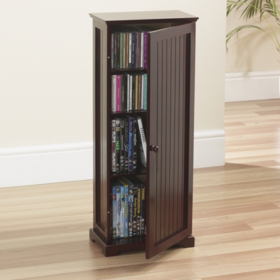 Charlton media dvd cd video storage cabinet unit wood ebay for Storage charlton