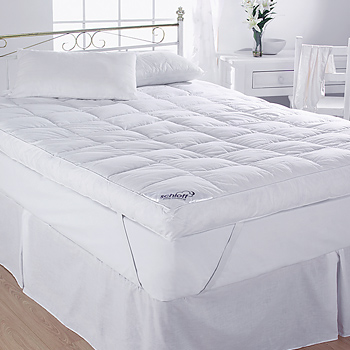 5 39 39 duck feather down mattress topper cotton super king. Black Bedroom Furniture Sets. Home Design Ideas