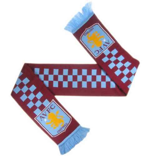 Aston-Villa-FC-Supporters-Scarf-Chequered-CQ-Licensed-Merchandise
