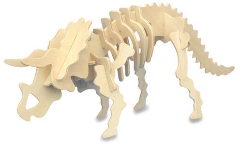 Triceratops-Dinosaur-3D-Wooden-Model-Kit-Jurassic-Jigsaw-Puzzle