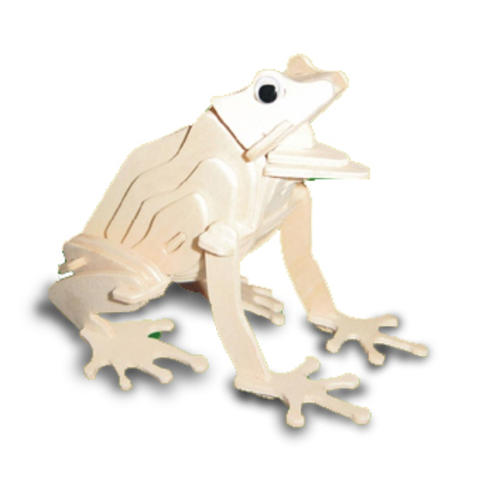 Frog-3D-Wooden-Modelling-Kit-Model-Jigsaw-Puzzle