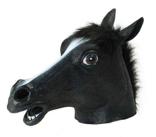 Black-Beauty-Mask-Horse-Mask-Farm-Animal-Pantomime-Jockey-Stag-Do-Fancy-Dress