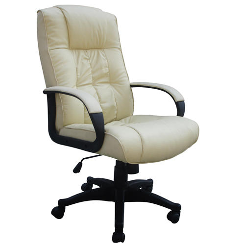 Cow Split Leather High Back Office Chair PC Computer Desk Swivel Furniture