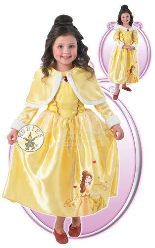 Childrens-Belle-Beauty-The-Beast-Fancy-Dress-Costume-Cape-5-6-Yrs