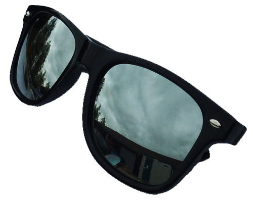 BLACK WAYFARER SUNGLASSES MIRROR LENSE AVIATOR UV400