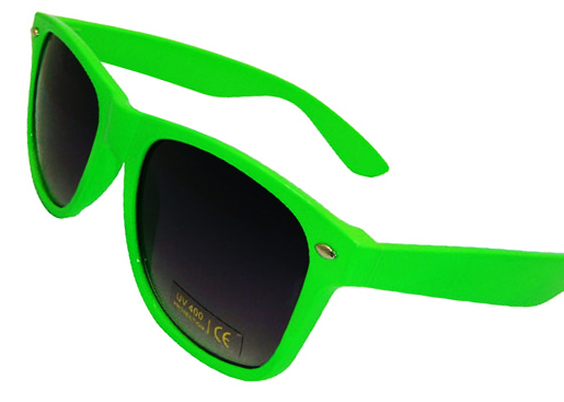 black and neon green wayfarer sunglasses. Black Bedroom Furniture Sets. Home Design Ideas