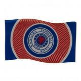 Rangers Fc Flag Red & Blue Bullseye Style Supporters Banner 5ft x 3ft BE