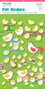Chicken Chick Chicks Felt Stickers Farm Birds Sticker Pack Kit Set - Fiesta Crafts