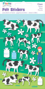 Cow Cows Felt Stickers Sticker Pack Kit Set Farm Animals - Fiesta Crafts