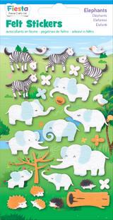 Elephant Felt Stickers Sticker Pack Kit Set Stocking Filler Party Bag Gift